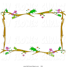 flowering trees borders clipart