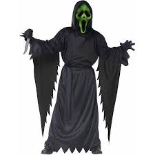 Boys Kids Halloween Costumes Scream Lite Ghost Face Boys U0027 Child Halloween Costume Walmart