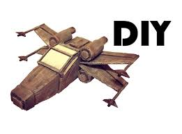 how to make an x wing diy cardboard star wars toy tutorial youtube