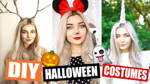 diy last minute halloween costumes easy youtube