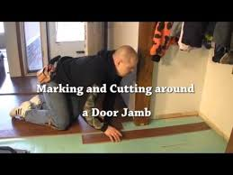 how to install the row of laminate flooring so that s how