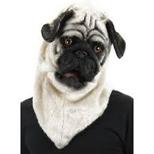 Pug Home Decor Pug Mouth Mover Mask Furry Cosplay Head Dog Mask