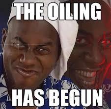 It Has Begun Meme - the oiling has begun ainsley harriott know your meme