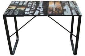 bureau plateau en verre bureau plateau verre 6 mm decor manhatthan bureau pas cher