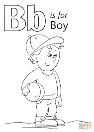 letter b is for boy coloring page free printable coloring pages