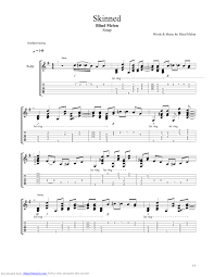 Blind Chords Skinned Guitar Pro Tab By Blind Melon Musicnoteslib Com