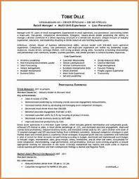 Resume Sle Objectives Sop Proposal - resume exle retail gcenmedia com gcenmedia com