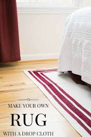Diy Area Rug From Fabric Make Your Own Rug Easy Drop Cloth Project The Handyman S