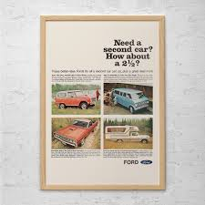 Antique Ford Truck Art - vintage ford truck ad classic car poster garage poster