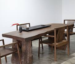 american natural solid wood conference table desk side retro