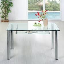 Fascinating Square Glass Kitchen Tables Top For Dining Table Room - Glass kitchen tables