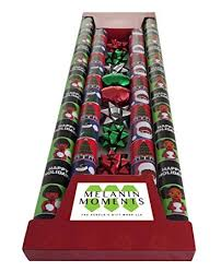black gift wrapping paper roll american black santa claus gift