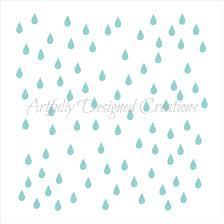 raindrops stencil artfully designed creations