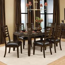 standard furniture bella 7 piece dining room set w faux marble