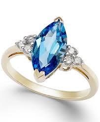 3 4ct pave halo blue macy u0027s blue topaz 2 3 4 ct t w and diamond 1 6 ct t w