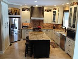Professionally Painted Kitchen Cabinets by Shaker Black Cabinets Midwestern Kitchen Remodel