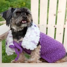 crochet pattern for dog coat purpleicious dog coat red heart