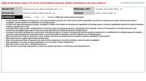 data processor sample resume best solutions of data processor