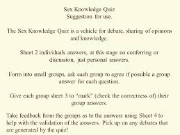 knowledge quiz suggestion for use ppt