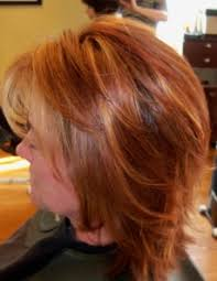 natural red hair with highlights and lowlights photos of real hair behind my chair with a brief description of my
