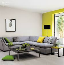 living blue and yellow living room ideas modern fireplace stone