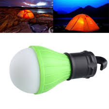 hanging tent light on off switch and glows in the dark