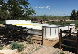 Hockey Rink In Backyard by Synthetic Ice Basement And Backyard Rink Kits Hockey Shooting