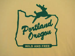 portland oregon wild and free t shirt all sizes small to 2xl