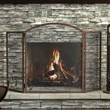 interior every fireplace needs a screen wrought iron geometric