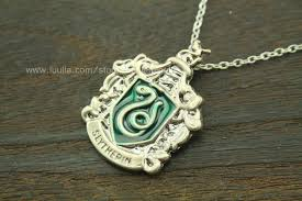 snake jewelry necklace images Silver green slytherin necklace harry potter inspired snake jpg