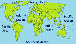 map with oceans oceans on a map my