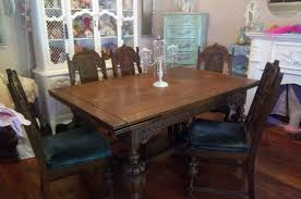Solid Oak Dining Table And 6 Chairs Dining Room Table Set With 6 Chairs And Server Buffet