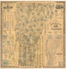 State Of Vermont Map by Walling Map Of Vermont 1860