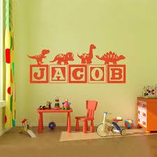 Dinosaur Nursery Decor Brand New Boys Dinosaur Blocks Name Wall Decal Nursery Room