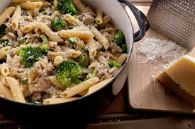 Pasta Recipes by Creamy Pasta With Chicken Sausage And Broccoli Recipe Chowhound