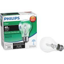 philips ecovantage a19 medium halogen light bulb 2 pack