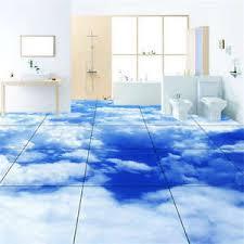 3d flooring heavy cloud blue sky 3d floor mural photo flooring wallpaper home