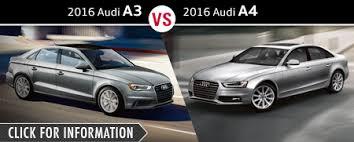 compare audi a3 and a4 audi sedan model comparisons naperville il