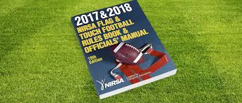 Rules For The Flag Newest Nirsa Flag U0026 Touch Football Rules Book Is Now Available Nirsa