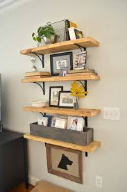 Building Wood Bookshelf by Diy Rustic Wood Shelves At Home With The Barkers