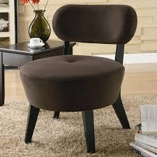 Microfiber Accent Chair Exposed Wood Mocha Microfiber Accent Chair By Coaster 900294