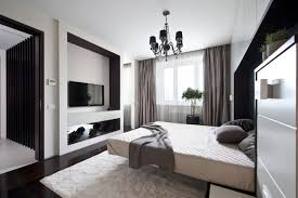 Small Bedroom With Tv Fabulous Dark Elegant Small Bedroom With Black Walls And Retro