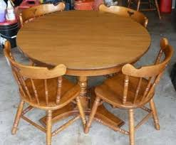 Luxury Maple Kitchen Table And Chairs Solid In Kelowna British - Maple kitchen table