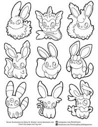 pokemon coloring eevee coloring pages
