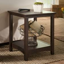 Cherry End Tables Bush Furniture Buena Vista End Tables In Cherry Walmart