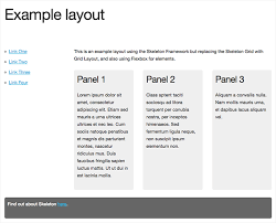 layout non grid page layout exles