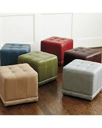 Cube Ottoman New Savings On Ballard Designs Leather Cube Ottoman Mineral
