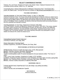 undergraduate curriculum vitae exle writing your cv