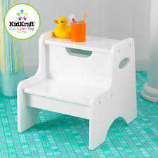 Kids Bathroom Stools Amazon Com Kidkraft Two Step Stool White Toys U0026 Games