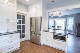 Wood Floor In Powder Room - nicholas kitchen u0026 powder room u2014 akos construction